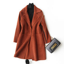 4040 Wool Coat Women Fashion Autumn Winter Cashmere Coat Female Turn Down Collar Jackets Overcoat casaco feminino 37049(China)