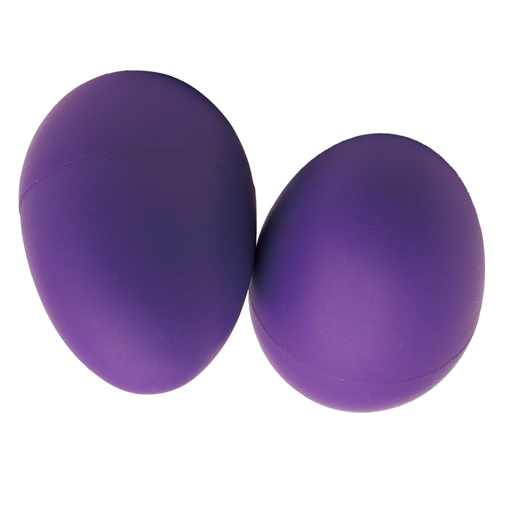 2x Purple Shaker Eggs Musical Percussion Sand Shaker Hand Held