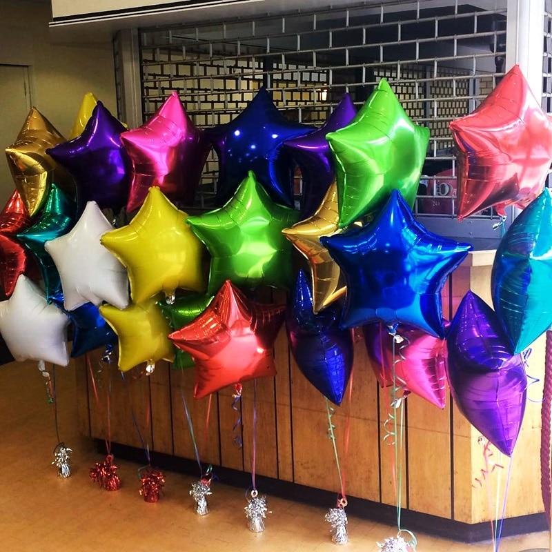 18 Inch Pentagram Aluminum Film Balloon Multi Color Children's Party Proposal Wedding Festival Decoration