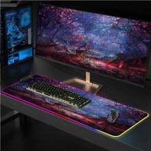 Цветная (RGB) Мышь pad Мышь padComputer большой Мышь Pad Мышь колодки светодиодный Подсветка Gamer МОЗ ковер стол коврик для CS адаптируемые под требовани...