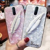 Funda de lujo para teléfono móvil Samsung, carcasa de pluma para Samsung Galaxy S20 FE Ultra S10E Lite S9 S8 Plus S7 Edge Note 8 9 10 Pro S21 Plus, Correa