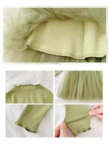 Image 5 - Girlsautumn elbiseler yabancı stil 2020 yeni çocuk prenses Pengpeng elbise ve bebek örgü elbiseler
