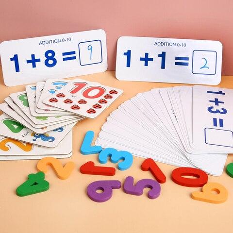 criancas brinquedos de matematica aritmetica madeira