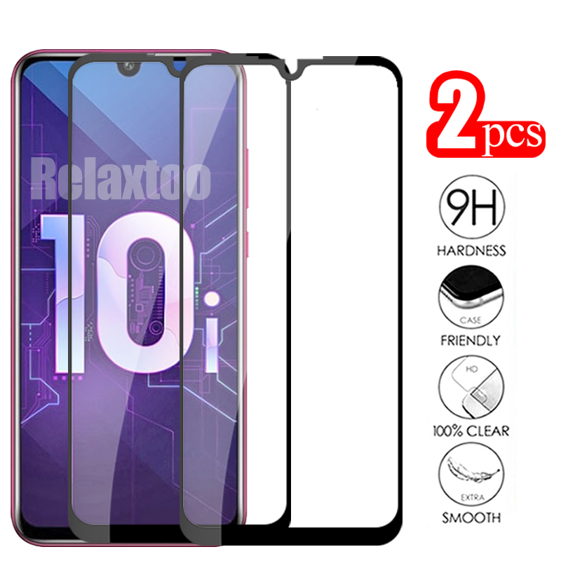 2pcs safety Glass on honor 10 lite screen protector For huawei honor 10i tempered glass Protective h