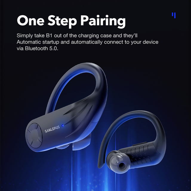 Earphone SANLEPUS B1 Led Display Bluetooth  TWS Stereo Earbuds Noise Cancelling Headset With Mic 4