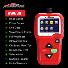 KW680 OBD2 Conector Motor Fault Code Reader Car Diagnostic Tool of Automotive Scanner Verification Tool Car Key Programmer xtool x100 pro auto car scanner obd2 auto key programmer mileage adjustment ecu eeprom immobilizer pin code reader