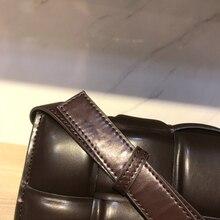 Genuine Leather Bag Cow Pillow Bag Dark