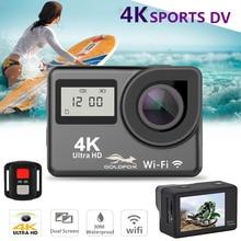 4K Touch Screen Action Camera Ultra HD WIFI Dual Screen 12MP Go Waterproof Pro 170D Sport Cameras Helmet Video Recording Camera