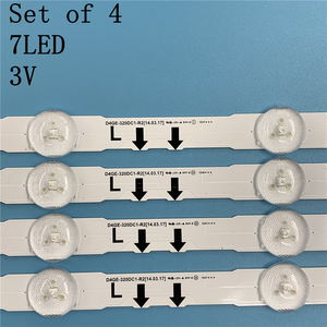 Image 4 - (New kit)4 Pieces/set 7LED 647mm LED strip for samsung ue32j5500ak D4GE 320DC1 R2 D4GE 320DC1 R1 BN96 30443A 30442A 2014SVS32FHD