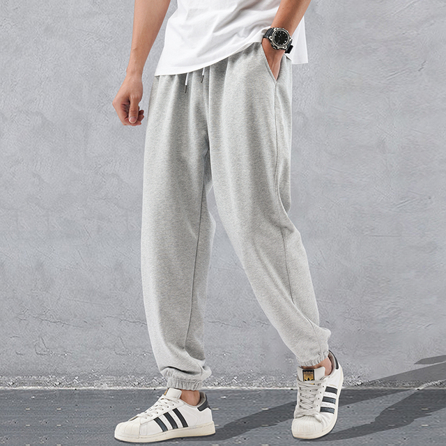 2020 yeni bahar moda gevşek Sweatpants erkek spor erkek Jogger Harem pantolon