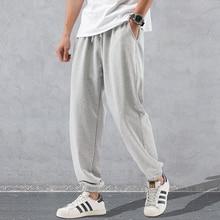 Calça harém moletom masculina primavera, roupas esportivas soltas, nova moda para homens, 2020