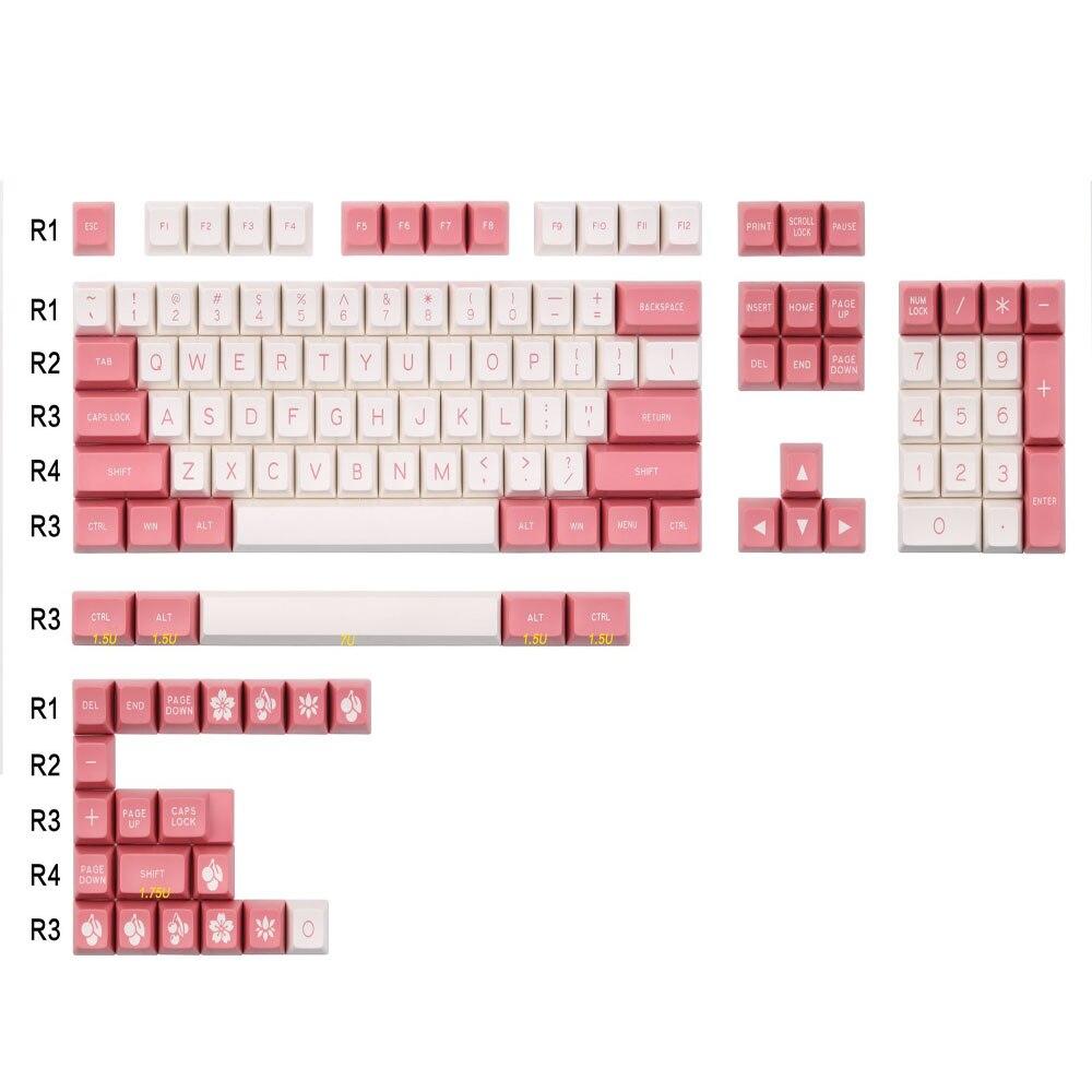 MAXKEY 108 tuşları klavye pembe ve beyaz SA Doubleshot ABS profil ofis klavye için mekanik oyun klavyesi