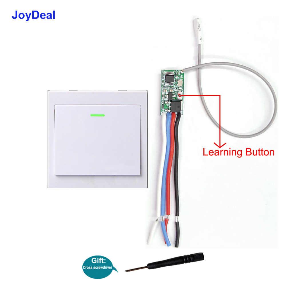 433 Mhz sans fil Micro télécommande commutateur DC 5V 9V 12V 24V RF relais contrôleur de lumière LED Mini récepteur panneau mural émetteur