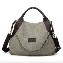 JIULIN marka büyük cep rahat Tote kadın çanta omuz çantası tuval deri kapasiteli çanta kadınlar için