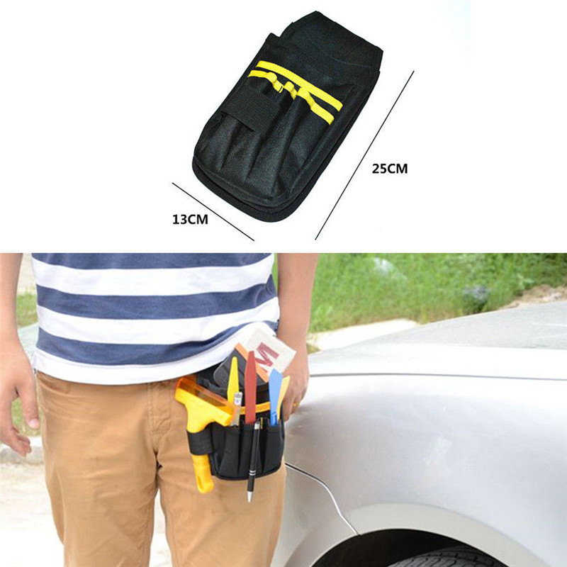 High Density Waterproof Oxford amp PVC Car Wrap Tool Bag Window Tint Vinyl Wrapping Tools Squeegee Scraper Bag Film Waist Pocket