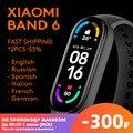 Фитнес-браслет Xiaomi Mi Band 6, водонепроницаемый фитнес-трекер с AMOLED экраном, с функцией измерения кислорода в крови, Bluetooth