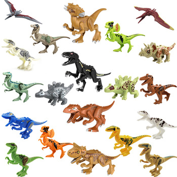 Jurassic Dinosaur World Building Blocks Series Velociraptor T-Rex Triceratops Assembles Figure Bricks Compatible Legoing Toys legoings jurassic dinosaurs world park dinosaur raptor protection zone building blocks set kids toys juguetes compatible legoing