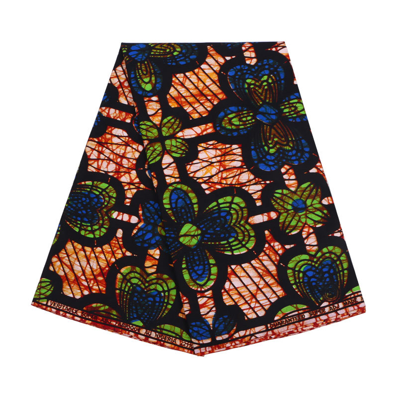 2019 Newest Arrivals African Fabric African Blue & Green Pattern Print Fabric