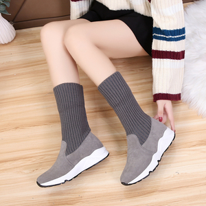 Image 5 - Snow Boots Women Leather Winter Shoes Ankle Boots Faux Fur Boots Plus Size Red Shoes Woman Winter British Style Snowboots 2019