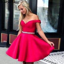 Элегантные Розовые коктейльные платья 2020 атласные трапеции