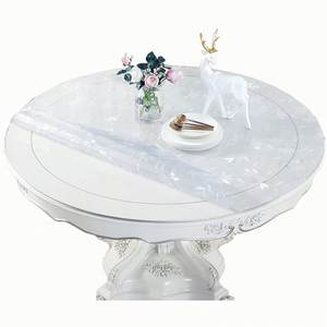 Waterproof Tablecloth Desk-Pad Clear-Mat Soft-Glass Round Transparent Dinning Plastic