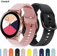 22mm/20mm pulseira de relógio para samsung gear s3 frontier silicone smartwatch pulseira galaxy watch 3/46mm/42mm/ativo 2 44mm 40mm banda