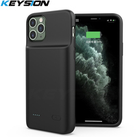 KEYSION Battery Case for iPhone 11 Pro 11 Pro Max Music/Sync Smart Power Bank Charging Charger Cover for iPhone X Xs Max XR