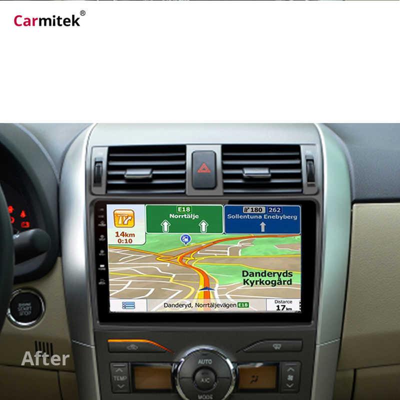2 グラム + 32 グラムラジオマルチメディアプレーヤートヨタカローラ E140/150 2008 2009 2010 2011 2012 2013 ステレオ GPS ナビゲーション 2 din