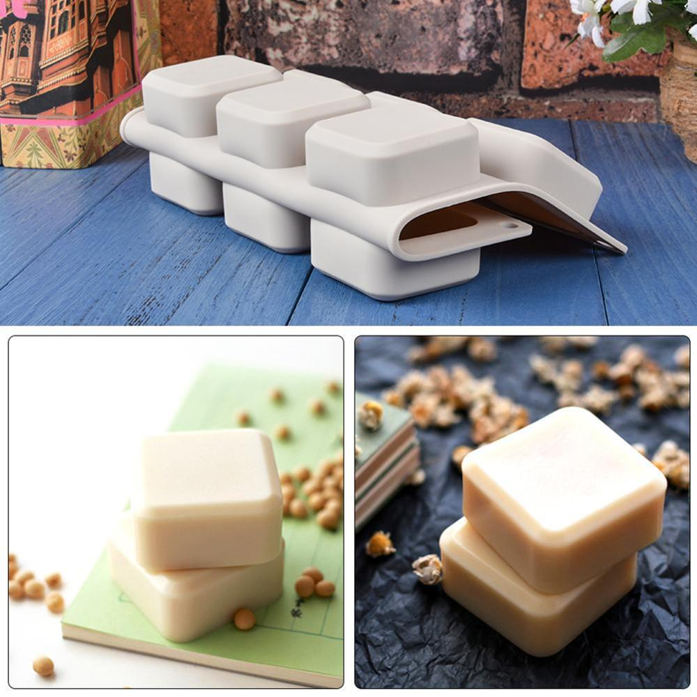 9 Grids Square Silicone Soap Molds Handmade Soap For Diy Soap Making Chocolate Cake Mold Kitchen Dining And Bar Supplie