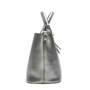 Image 4 - Fashion Genuine Leather Bag Cowhide Ladies Shoulder Bags High Quality Female Big Women Leather Handbag Hand Bags for Women 2020