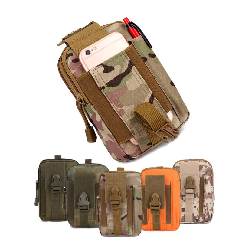 Men's Outdoor Camping Bags Tactical Molle Backpacks,Pouch Belt Bag,Military Waist Backpack Soft Sport Running Pouch Travel Bags
