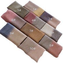 Direct sales autumn/winter new progressive folding scarf, lovely little pure color ruffled shawl
