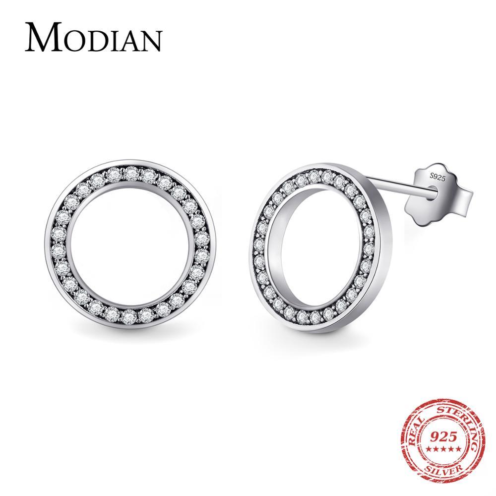 2020 High Quality Fashion 925 Sterling Silver Earrings Luxury Crystal Zircon Stud Earrings For Women Bridal wedding Jewelry 1