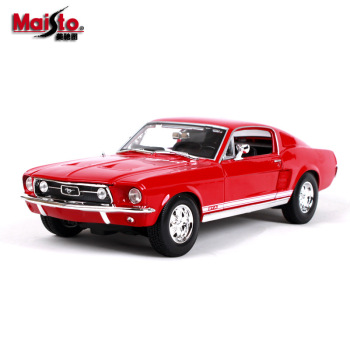 Maisto 1:18 1967 Ford Mustang GTA car alloy car model simulation car decoration collection gift toy Die casting model boy toy maisto 1 18 2017 ford gt yellow silver blue car diecast exquisite luxury car toy model collecting car model for men gift 31384