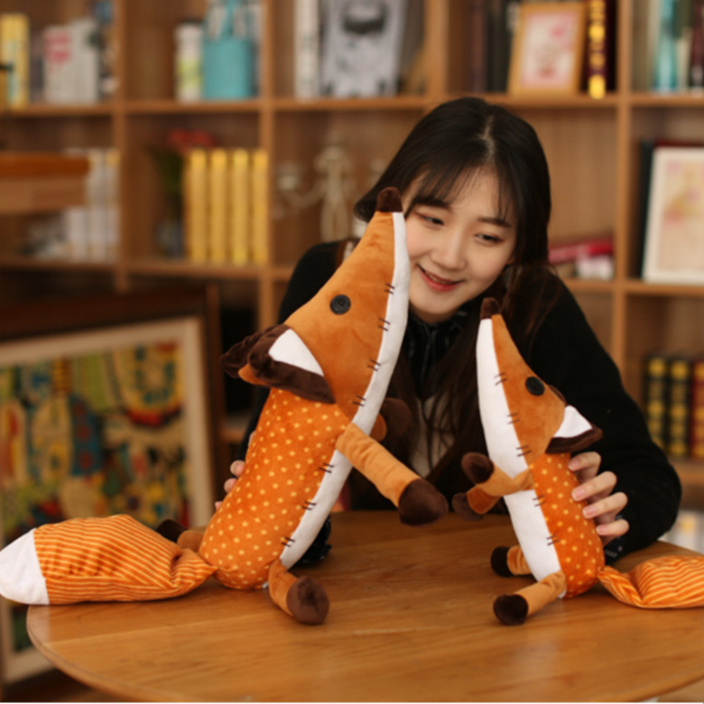 1 piece fox plush doll 40cm 60cm plush animal plush educational toy baby child birthday Christmas gift WJ185 in Movies TV from Toys Hobbies