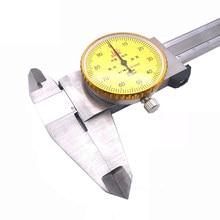 Calibradores con Dial 0-150mm 0,01mm 0-200 300mm, calibrador Vernier de acero inoxidable industrial de alta precisión, herramienta de medición a prueba de golpes