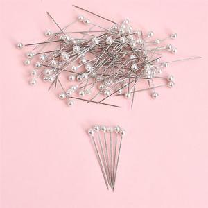 Conjunto de agujas de costura para costura conjunto de agujas redondas de costura para costura con caja, colores y blancos, 100 unidades