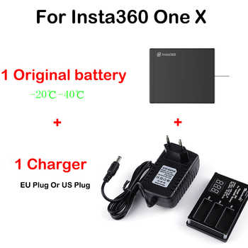 In Stock Original Battery For Insta360 ONE X 1050mAh LiPo Batteries Insta360 ONE X Charger Micro USB Qiuck Battery Charger Hub