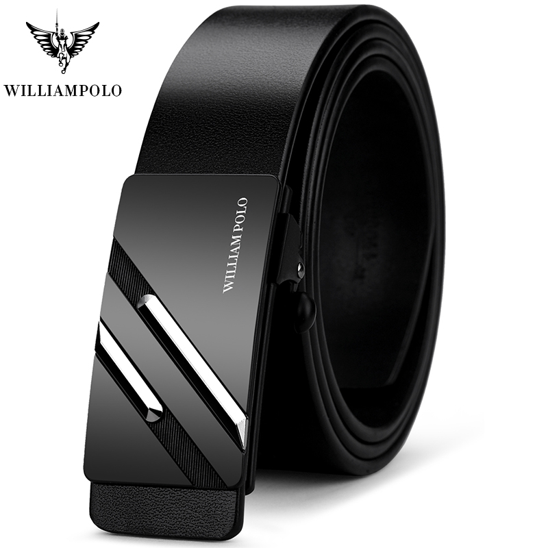 Belts Men Belt Luxury Brand Automatic Buckle Waist Genuine Leather Luxury  Belt Waist Belts 2019 Newfashion Designer WILLIAMPOLO