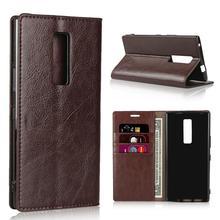 Crazy Horse Real Genuine Leather Wallet Flip Case for Kyocera Urbano V02 V03 cover V 02 03 Stand Book