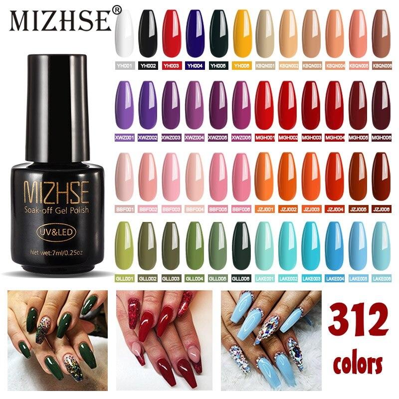 MIZHSE juego de esmalte de uñas Esmaltes Para Pintar Unha marca privada UV Gel Nagellak esmalte de uñas Base de goma y parte superior