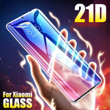 21D Full Cover Tempered Glass For Xiaomi Mi A2 Lite A3 Mix 3 Glass For Xiaomi Mi 8 9 Lite SE 9T Pro Screen Protector Film(China)