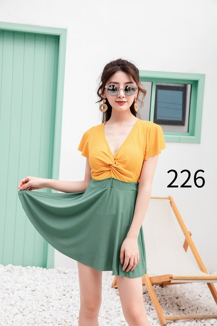 Sexy cover up dress Swimsuit beachwear female 2020 Stitching color bikini Solid color Summer dress cover ups sexy woman's dress 4