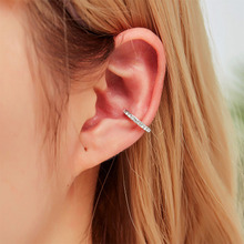 2019 Fashion Clip Earrings For Women Crystal Hollow U-shaped Ear Bone Cuff Brincos Bijoux Fashion Jewelry Gift Wholesale WD633 women s fashion rhinestone inlaid hollow out u style ear bone clip golden siilver