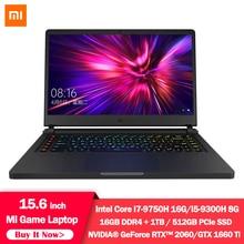 Xiaomi Mi игровой ноутбук 15,6 дюймов обновления i5 8G/i7 16G DDR4 1 ТБ SSD GTX1660Ti/RTX2060 NVIDIA 6 ГБ DDR6 144 Гц компьютер