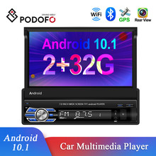 Multimedia-Player Car-Radio Podofo Bluetooth Android 1-Din Rear-View-Camera Touch-Screen