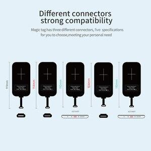 Image 5 - Nillkin Magic Tags Qi Draadloze Opladen Ontvanger Micro Usb/Type C Voor Iphone 5S Se 6 6 S 7 Plus Voor Samsung S6 S7 Rand