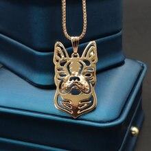 Ожерелье бохо из сплава Бостонский терьер модная подвеска с