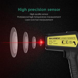 Image 5 - אינפרא אדום מדחום MAXRIENY BTM11 ללא מגע IR הדיגיטלי Pyrometer טמפרטורת מטר נקודת אקדח 50 ~ 580 תואר + מעורר + צבע