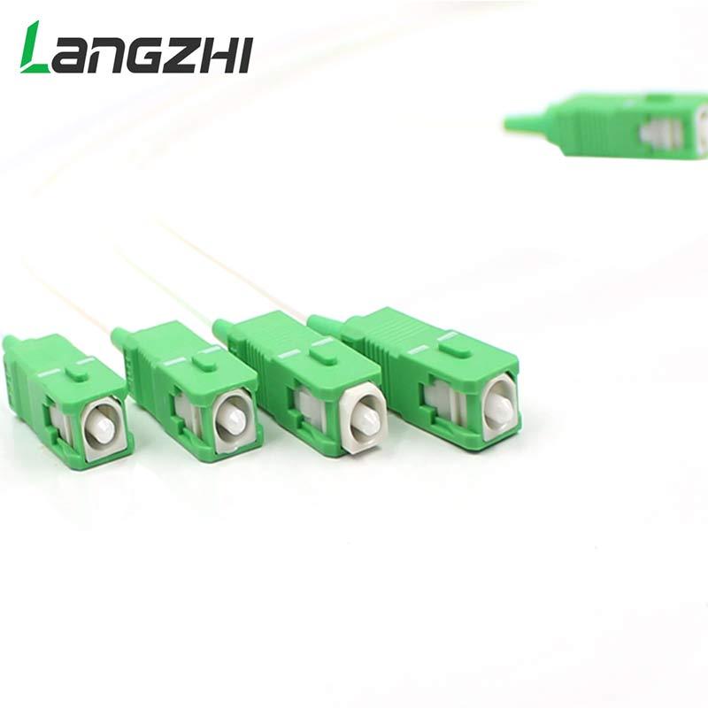 10pcs New Steel Tube 1x4 Differential Mini Blockless Sc Apc Connector 1*4 Fiber Optic Plc Splitter Wire Harness